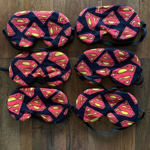 Superman - Set of 6 - Sleep Masks- Party Pack. New